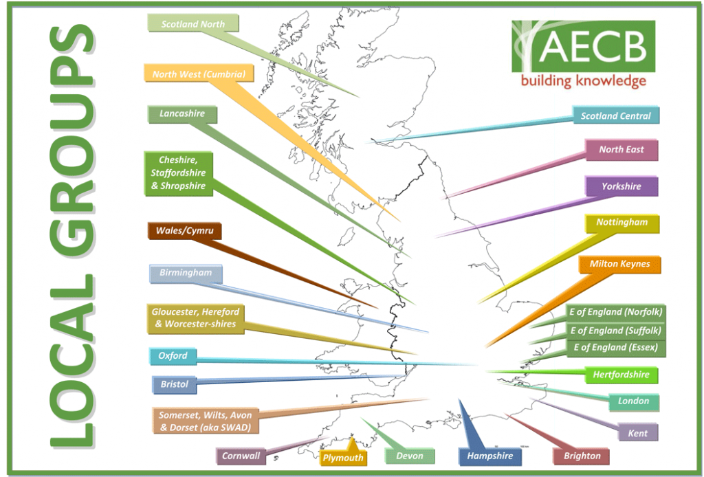 AECB Local Groups map