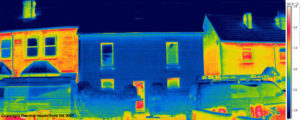 House showing thermal imaging