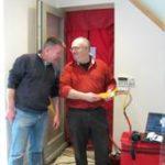 Paul Jennings demonstrating airtightness