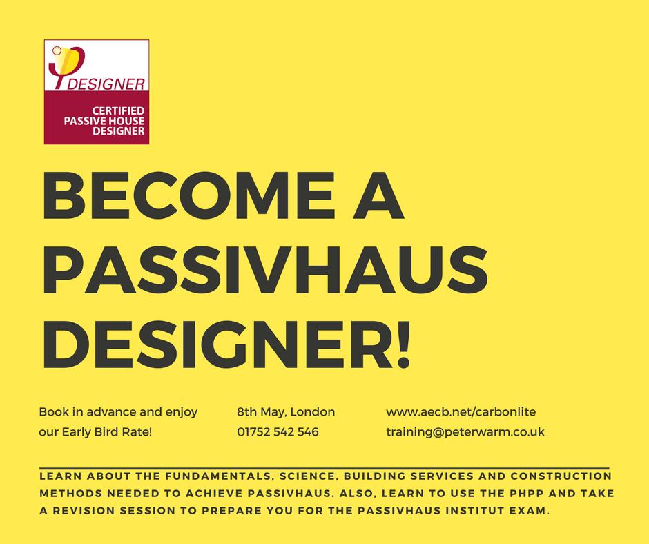 Aecb aecb carbonlite passivhaus training become a for Becoming a designer