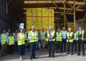 Opening the Flying Factory at Scottow Enterprise Park, Norfolk